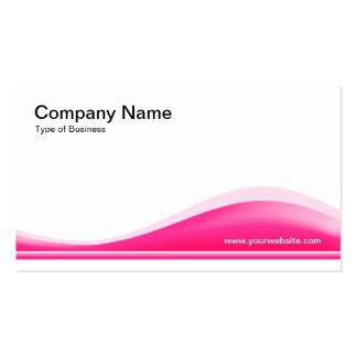 Contorno de la onda - rosa fuerte tarjetas de visita