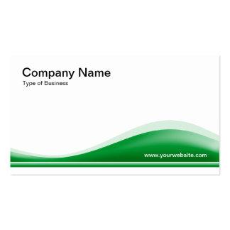 Contorno de la onda - verde de hierba plantilla de tarjeta de visita