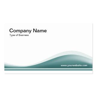Contorno de la onda - verde del océano plantillas de tarjeta de negocio