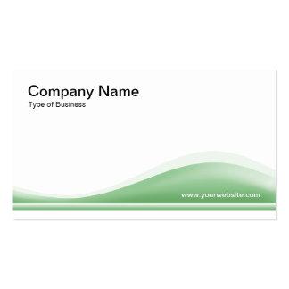 Contorno de la onda - verde descolorado tarjetas de visita