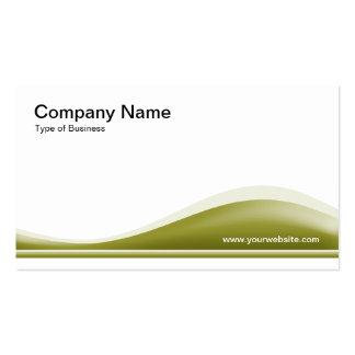 Contorno de la onda - verde verde oliva plantilla de tarjeta de negocio