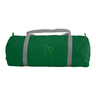 Contorno de una liebre verde clara bolsa de deporte