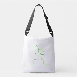 Contorno de una liebre verde clara bolso cruzado