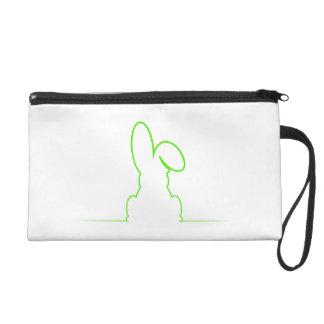 Contorno de una liebre verde clara bolso de fiesta