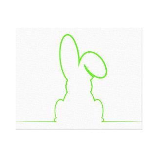 Contorno de una liebre verde clara lienzo
