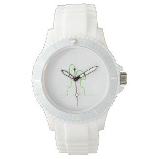 Contorno de una liebre verde clara reloj de pulsera