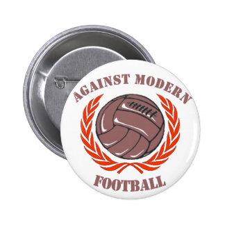 Contra fútbol moderno chapa redonda 5 cm