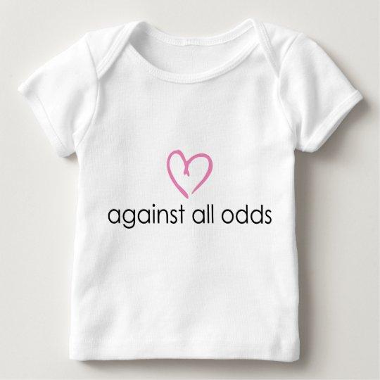 contra todas las probabilidades camiseta de bebé