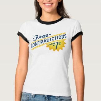 ¡Contradicciones libres, apenas $1,00! Camiseta