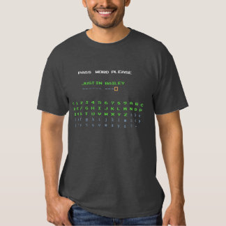 Contraseña de Justin Bailey Camisetas