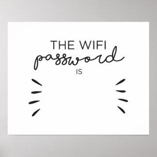 Contraseña de Wifi Póster