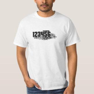 contraseñas comunes camiseta