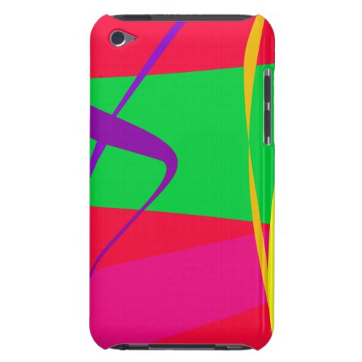 Contraste rojo y verde del modelo abstracto iPod touch coberturas