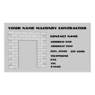 Contratista de la albañilería tarjetas de visita