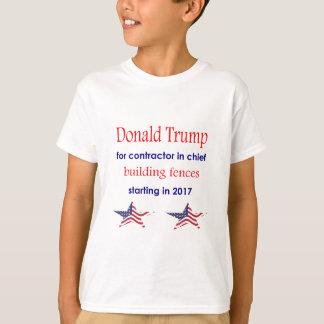 Contratista en jefe, presidente de Donald Trump Camiseta