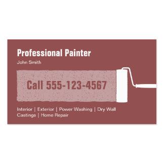 Contratista profesional de encargo de la pintura tarjetas de visita