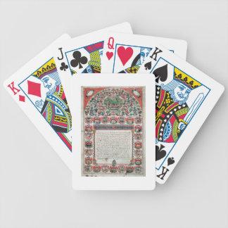 Contrato de boda judío (vitela) baraja de cartas bicycle