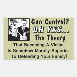 ¿Control de armas? ¡Teoría de una víctima! Rectangular Altavoces