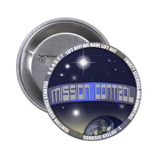 Control de misión chapa redonda de 5 cm