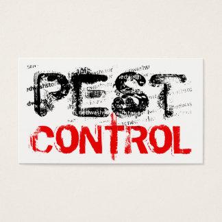 Control de parásito grande de la muestra tarjeta de negocios