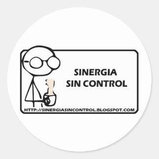 control del pecado del sinergia etiquetas redondas