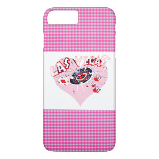 Control Las Vegas del rosa y del blanco Funda iPhone 7 Plus