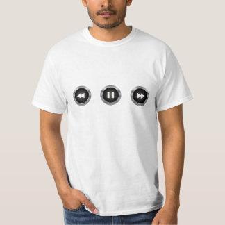 Controles audios/video del botón camiseta