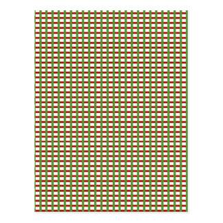 CONTROLES elegantes: El blanco verde rojo añade Postal