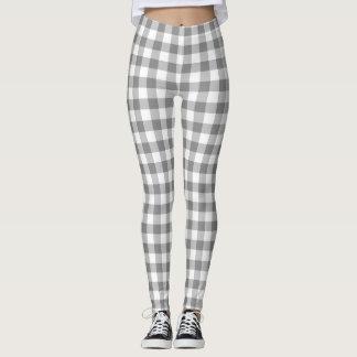 Controles grises y blancos de la guinga modelados leggings