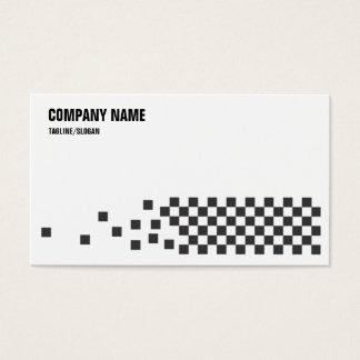 Controles negros y del blanco tarjeta de negocios