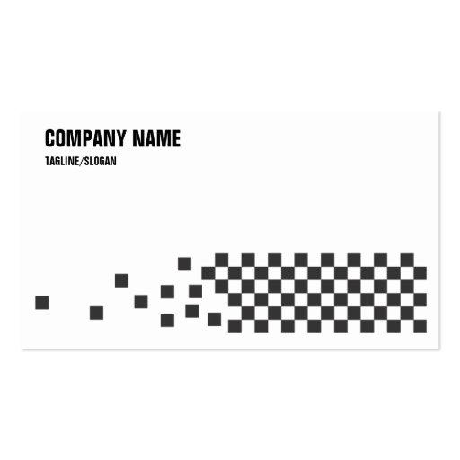 Controles negros y del blanco plantillas de tarjeta de negocio