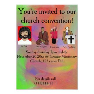 Convenio de la iglesia invitación 11,4 x 15,8 cm