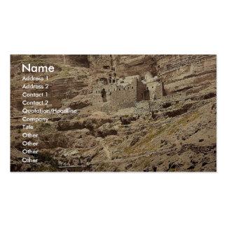 Convento de Elías y del arroyo de Kerith, Wady-EL- Plantilla De Tarjeta De Visita