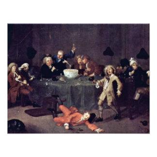 Conversación de medianoche moderna de Hogarth Guil Anuncio Personalizado