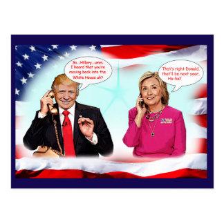 Conversación de teléfono del triunfo de postal