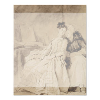 Conversación íntima por Fragonard Folleto 11,4 X 14,2 Cm