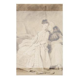 Conversación íntima por Fragonard Folleto 14 X 21,6 Cm