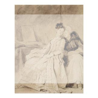 Conversación íntima por Fragonard Folleto 21,6 X 28 Cm