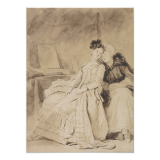 Conversación íntima por Fragonard Impresion Fotografica