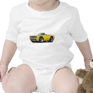 Convertible amarillo 1968 del Roadrunner Trajes De Bebé
