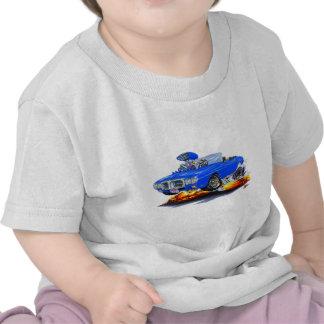 Convertible azul 1969 de Firebird Camisetas