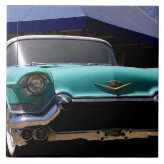 Convertible verde de Cadillac de Elvis Presley ade Azulejo Cuadrado Grande