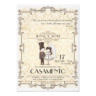 Convite Casamento Invitación 12,7 X 17,8 Cm