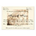 Convite de casamento country, cavalo, horses convite 12.7 x 17.78cm