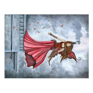 Convocar a la postal de la hada del viento
