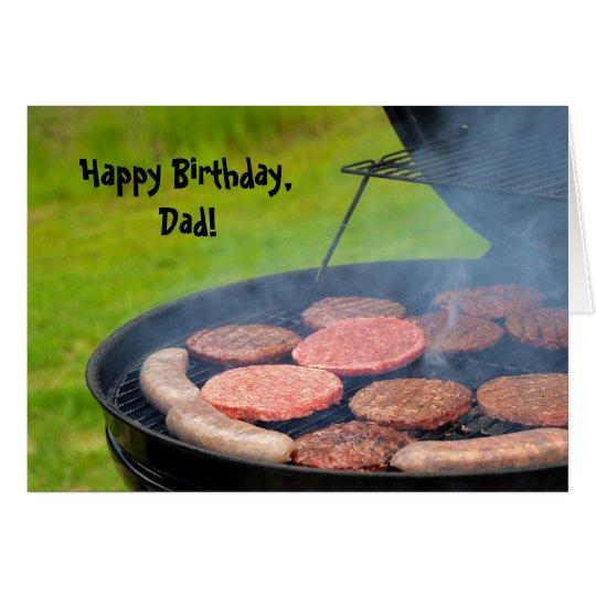 Cookout para el cumpleaños del papá tarjeta de felicitación