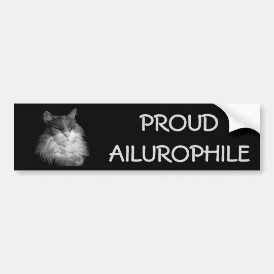 Coon orgulloso de Ailurophile (amante) del gato Pegatina Para Coche