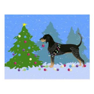 Coonhound de Bluetick que adorna el árbol de Postal