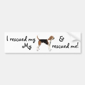 Coonhound del caminante de Treeing del rescate Pegatina Para Coche