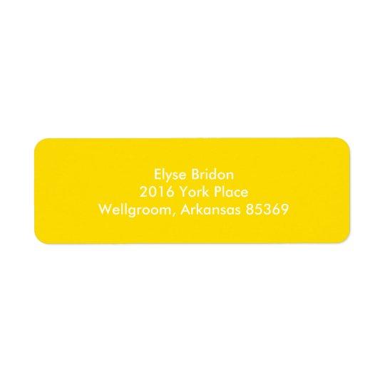 Coordinación de oro del color del top del amarillo etiqueta de remitente